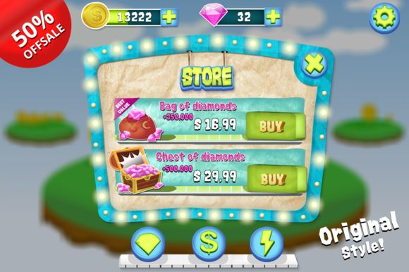 Complete Cartoon Bubble Gum GUI Pack by Creativer Studio on Creative Market
