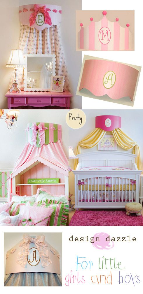 Would love to make a bed crown for a girls room