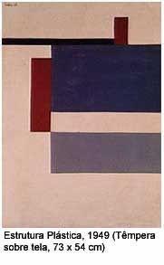 ARTE CONCRETA. Concretismo brasileiro: Estrutura plástica (1949), de Waldemar Cordeiro, têmpera sobre tela (0,7 m x 0,5 m)