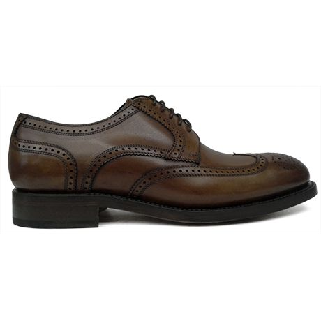 Zapato blucher pala vega picado maría color cuero difuminado Berwick 1707 vista lateral