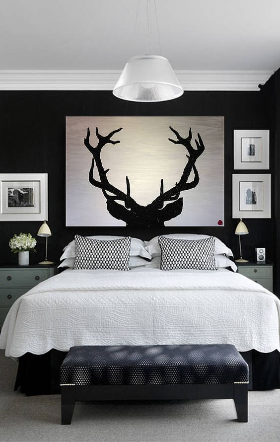 Bedroom Furniture Black And White best 25+ black headboard ideas on pinterest | black bedroom decor