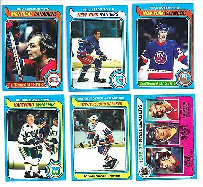 1979 Topps Hockey Card Set 256/264 Gordie Howe Guy LaFleur Mike Bossy Esposito