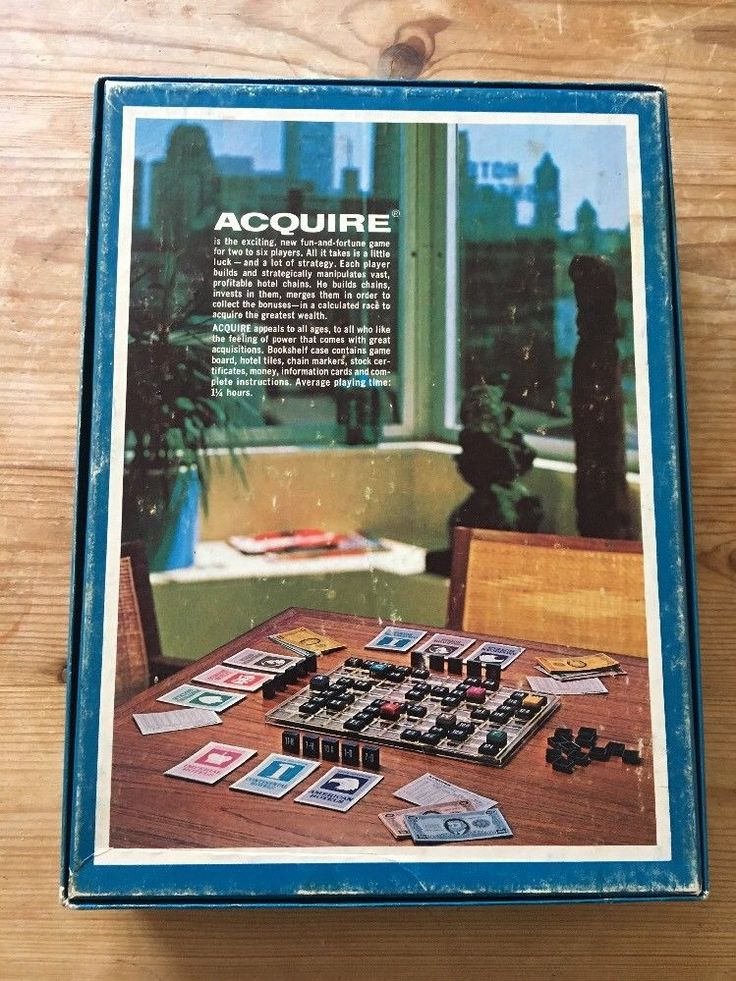 Acquire Board Game - Avalon Hill Bookshelf 1976