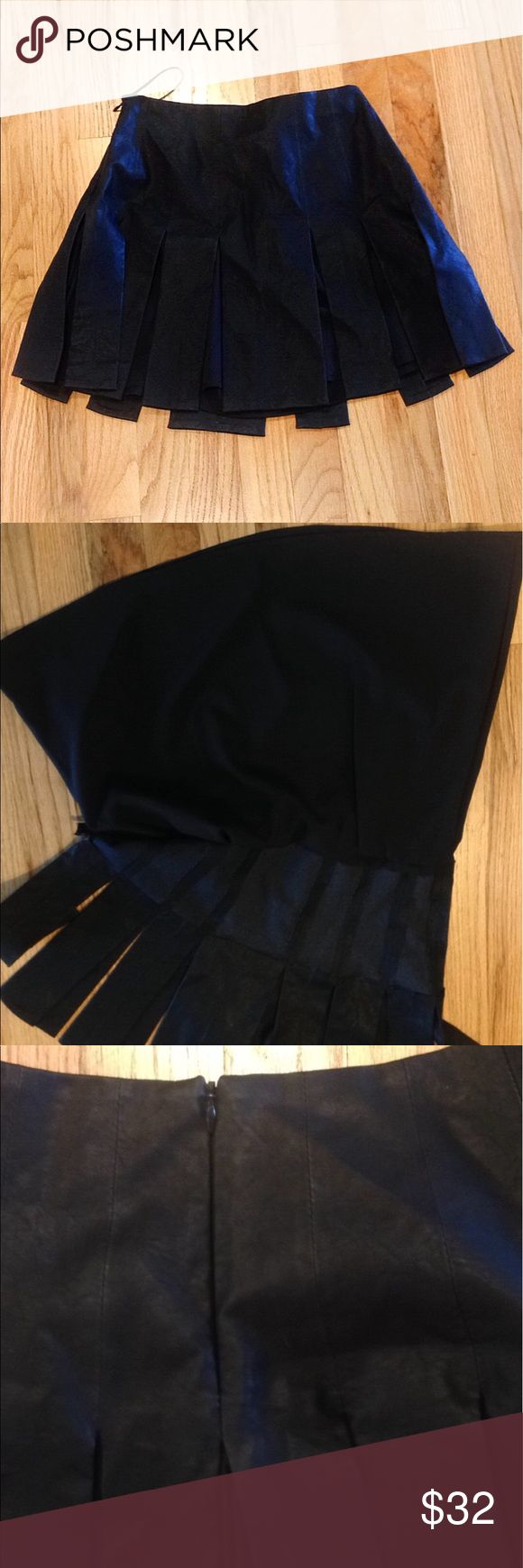 ZARA TRAFALUC Leather Skater Skirt 100% Non Smoking, No Pet Home.   Top 5% & ⭐️⭐️⭐️⭐️⭐️ Seller. Shop with confidence :)  Feel free to like, follow, and share. Open to offers. Thanks for the love. Like new. Black photo leather skirt has slip underneath skater style fit zipper back with clasp 100% polyester USA small Zara Skirts Circle & Skater
