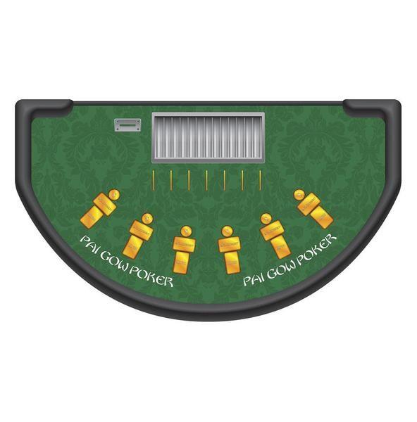 Monaco - Pai Gow Poker Table  Layout - GREEN - casino supply . com