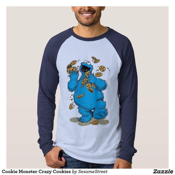 Cookie Monster Crazy Cookies. Regalos, Gifts. #camiseta #tshirt