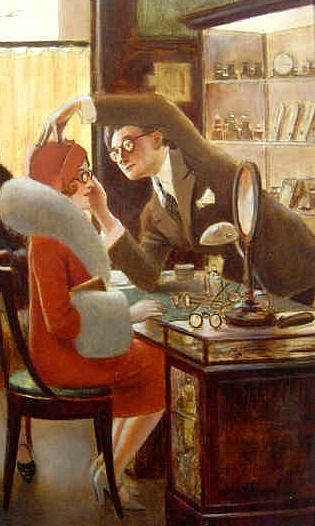 Paul Albert Guillaume -     The Optician,     early 20th century