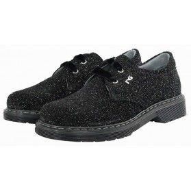 Stringate Nero Giardini #bambina #scarpe #glitter #black @NeroGiardini