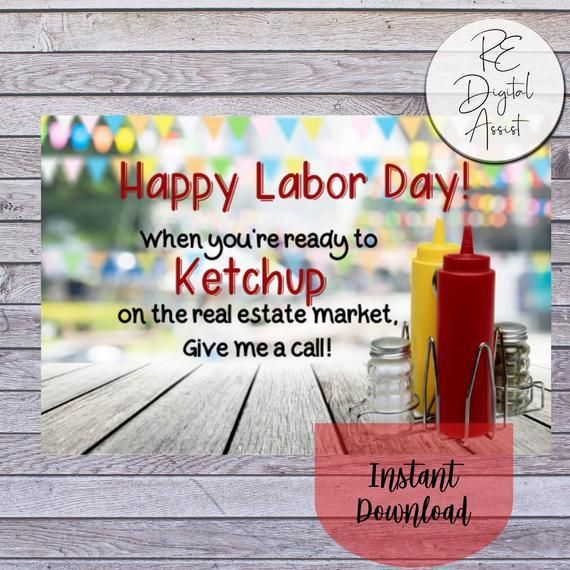 SALE! Labor Day Real Estate Marketing 4×6 Postcard, Summer Realtor Farm Door Knocking Printable, Lab