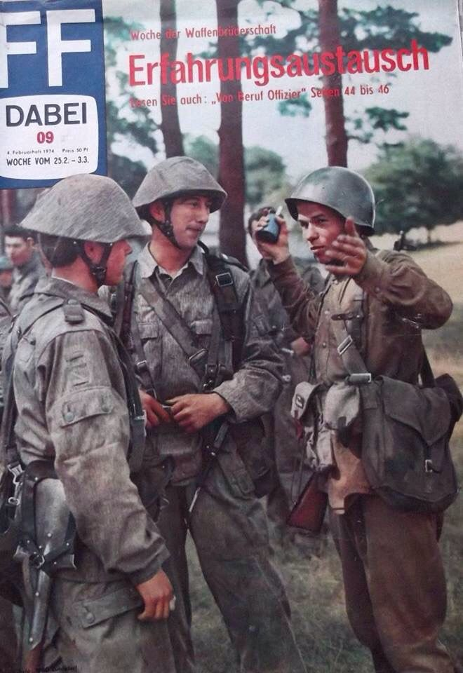 East german and soviet soldiers in propaganda