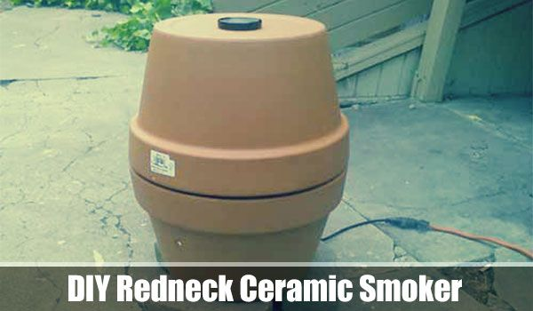 DIY Redneck Ceramic Smoker, food, survival, shtf, homesteading, survival, low cost, smoker, DIY, smoke food, how to smoke food, food preservation,