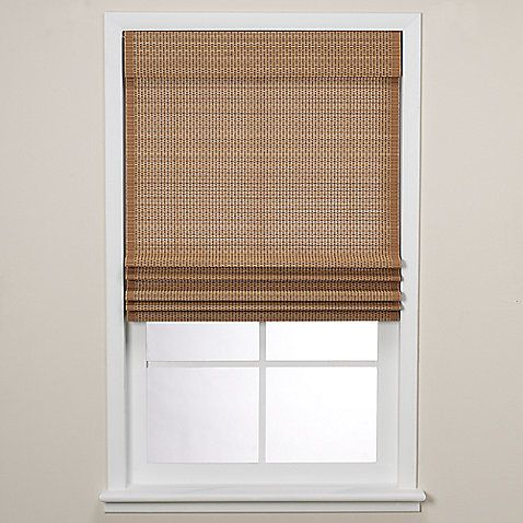 Real Simple 174 Natural Roman Shade 29 Inch By 72 Inch