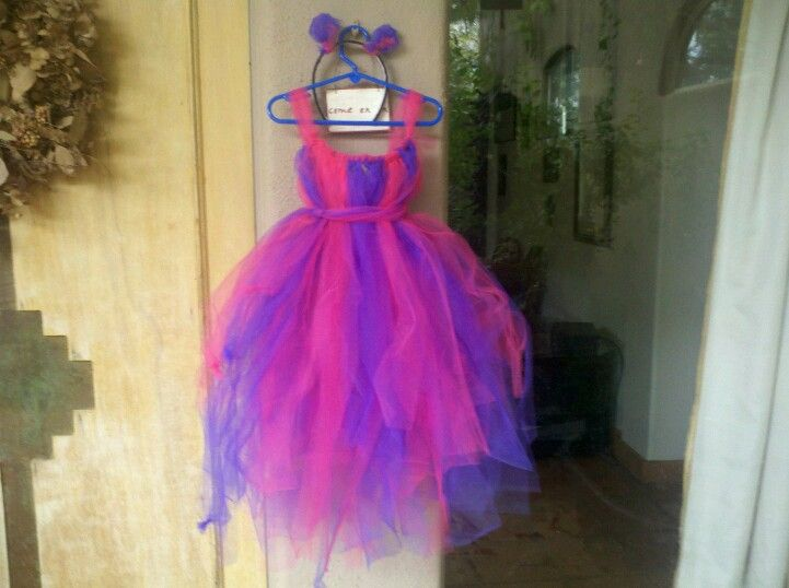 DIY tulle costumes Cheshire cat tutu dress