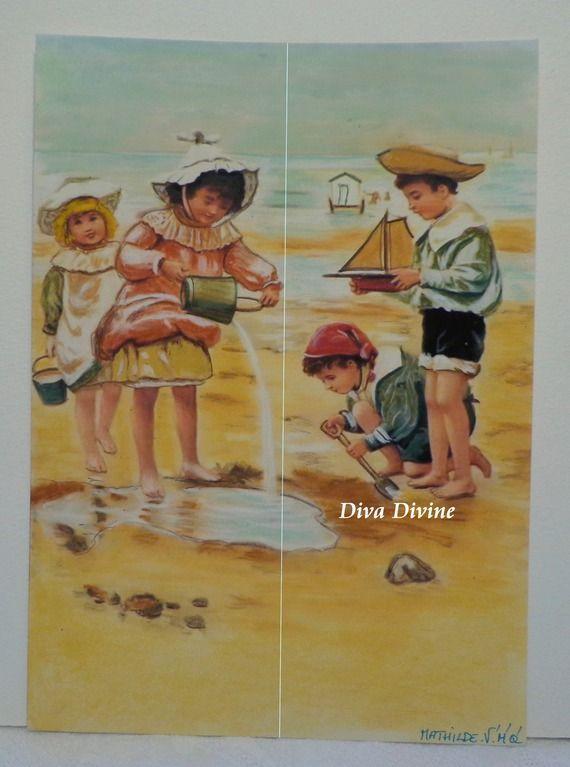 Pastel Sec pour Tableau Romantique, Victorien * MATHILDE * - Création Originale : Accessoires de maison par diva-divine