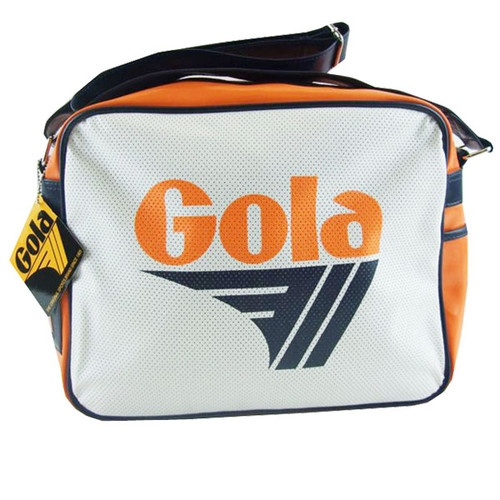 Gola Orange White Perforated Redford Retro Shoulder Bag | eBay
