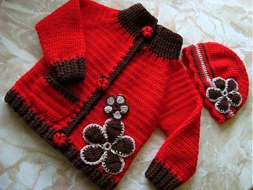 Červeno-hnedý svetrík by maria4311 - SAShE.sk - Handmade Detské oblečenie