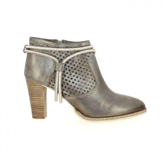 Boots à talons beige métallisé MYMA MYROYAL Bessec