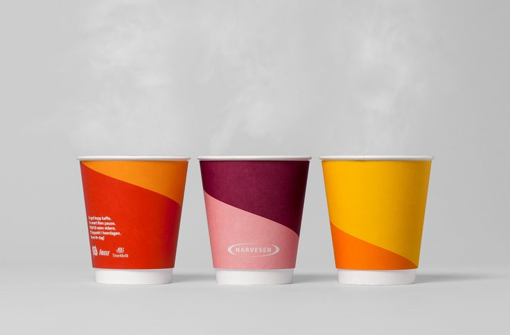 Cups for coffee concept Narvesen designed by BVD.