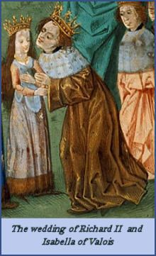 Richard II and Isabella of Valois...she was just a child!