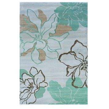 Shop Wayfair For Linon Rugs Milan Ivory/Turquoise Floral Area Rug   Great  Deals On