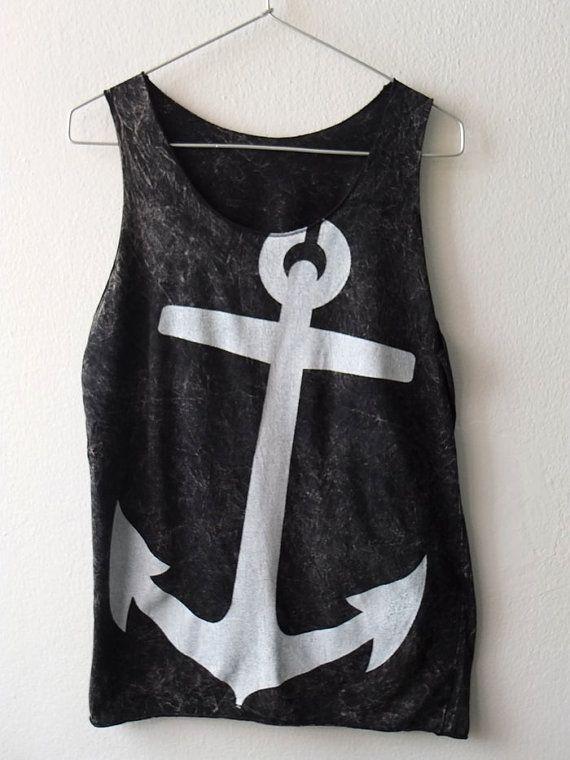Anker navy piraat vintage rocker mode punk goth door Badconceptual