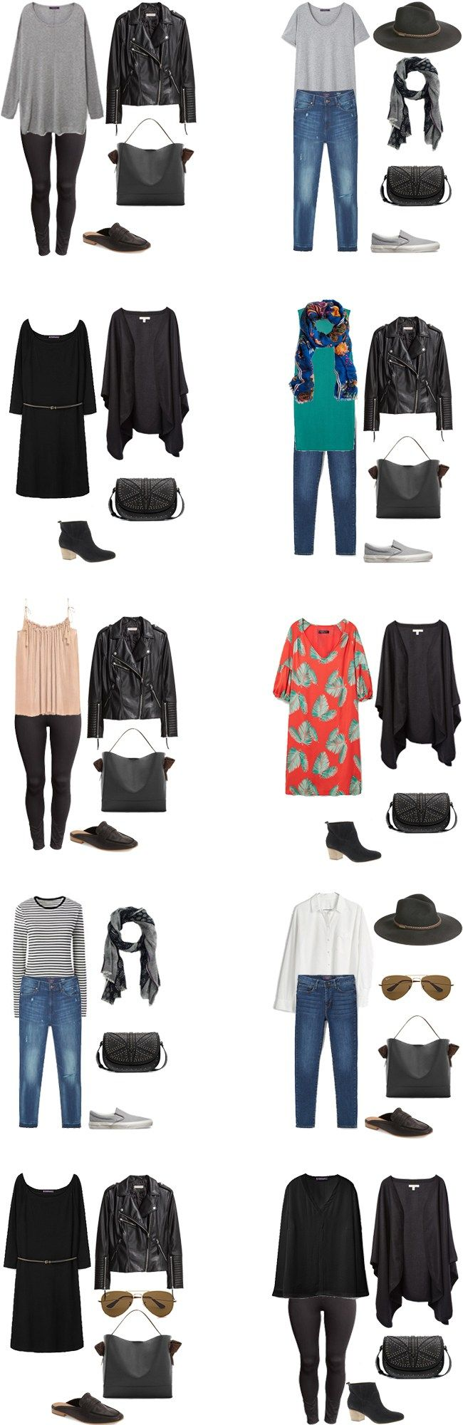 What to Wear in London Paris and Germany Outfit Options 11-20 #travellight #packinglight #traveltips #travel