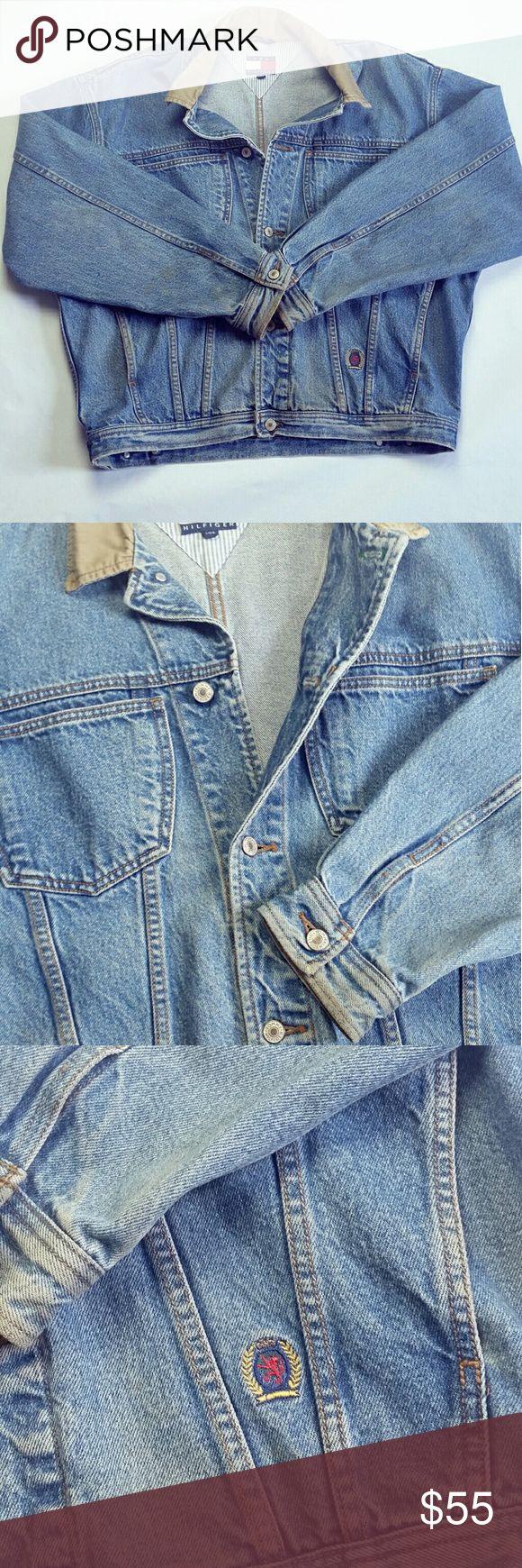 Vintage Tommy Hilfiger Denim Jacket Pre-owned vintage Tommy Hilfiger men's denim jacket Tommy Hilfiger Jackets & Coats