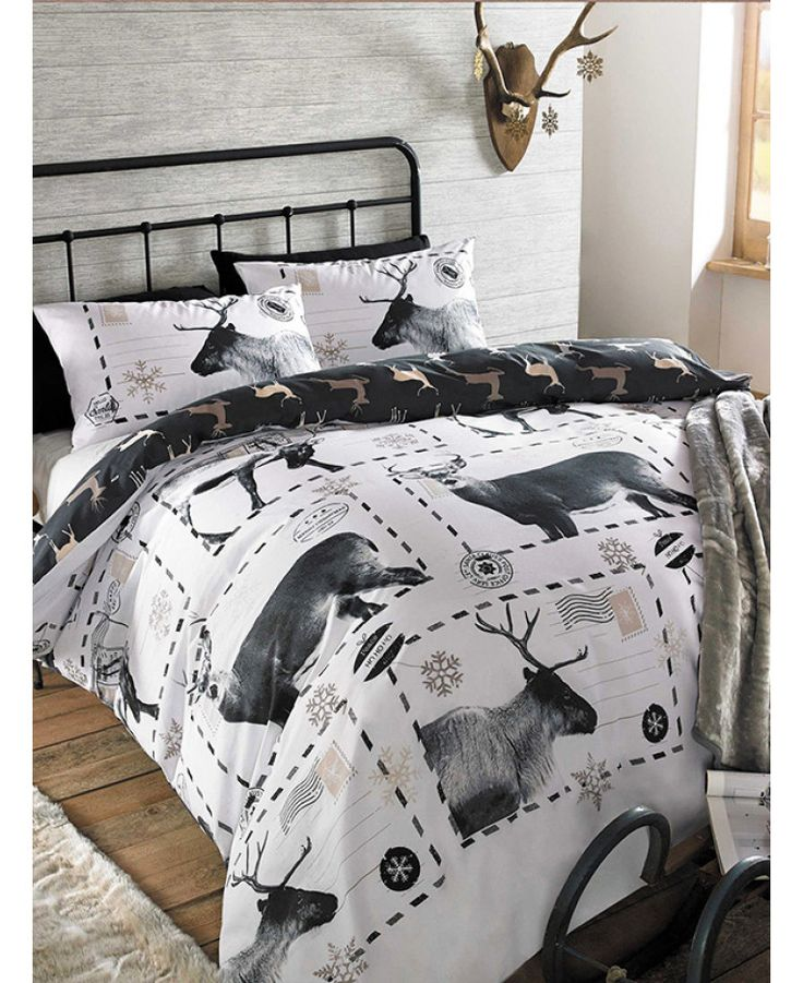 This Reindeer Christmas Single Duvet Cover Set will add a festive finishing touch to any bedroom. Free UK delivery available