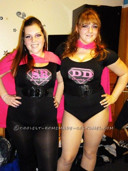 Coolest Made-Up Superhero Costumes: DD and Super Booty... This website is the Pinterest of costumes