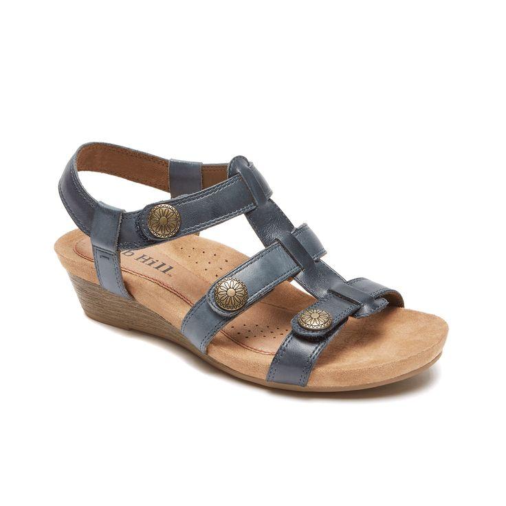Cobb Hill Harper Adjustable Sandal (Blue)