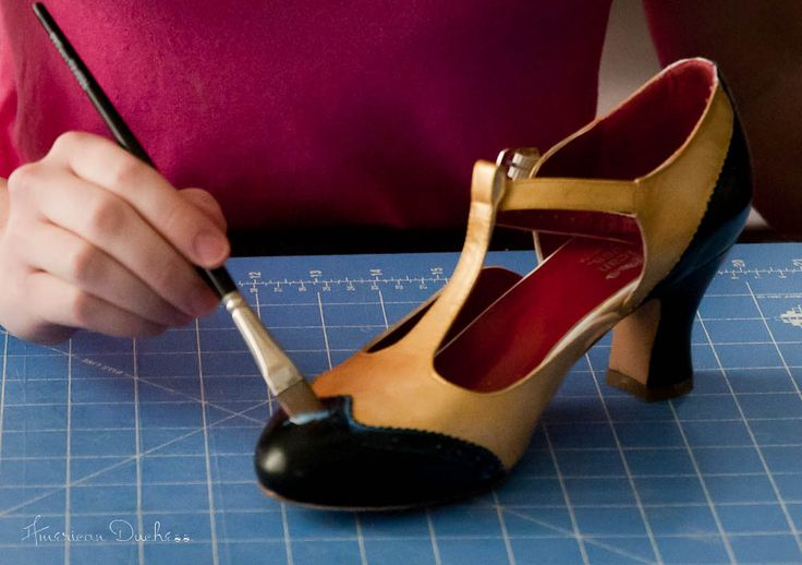 American Duchess: How To Paint Your Own 1920s Flapper Shoes