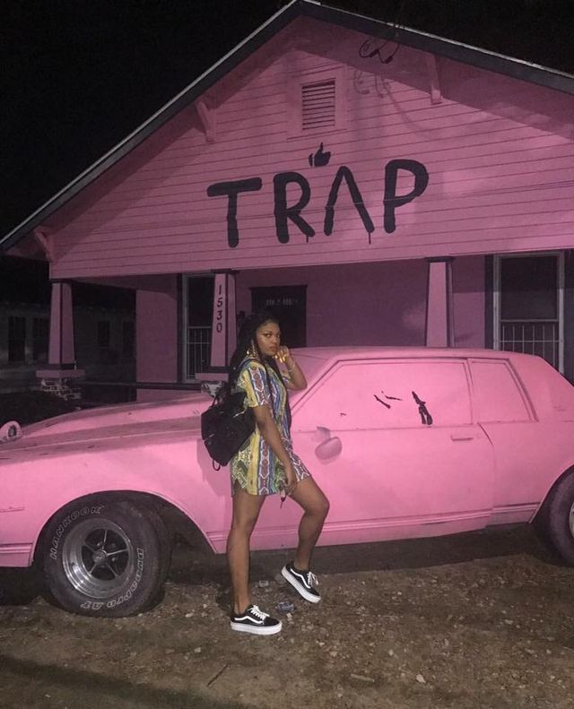trap #house | Spotify Playlist Cover Art | Pink aesthetic