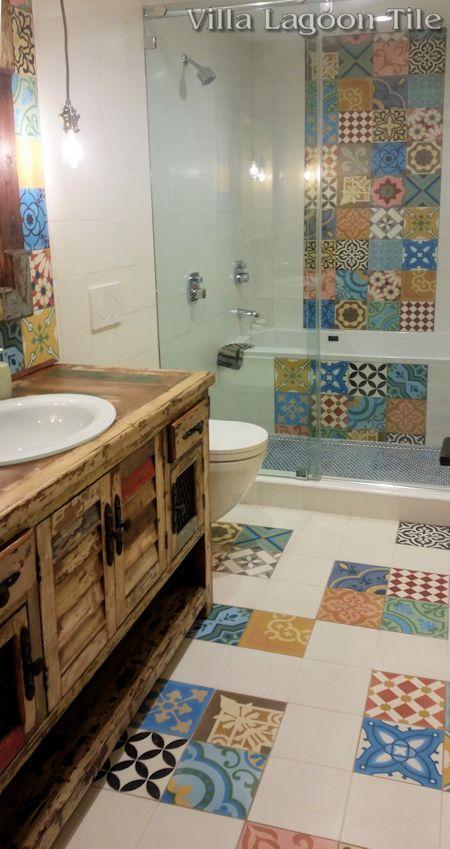 17 Best ideas about Cement Tiles Bathroom on Pinterest   Bathroom ...
