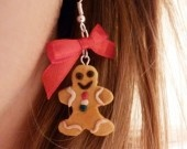 Boucles d'oreilles Gingerbread  fimo http://www.alittlemarket.com/boutique/cup_of_sweet-243830.html
