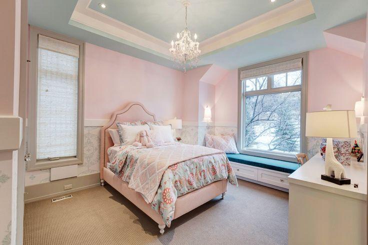 Splendid Chandelier For Girls Room with Chair Rail Window Seat