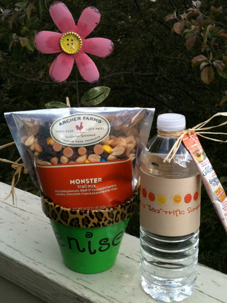 Secretary Christmas Gift Ideas Part - 17: School Secretary Gift #2~Monster Mix From Target And Metal Flower From  JoAnns