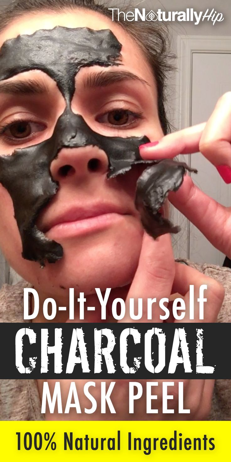 DIY Charcoal Mask Peel | This is WAYYY better than the fake China masks that stick to your face like glue. 100% Natural!