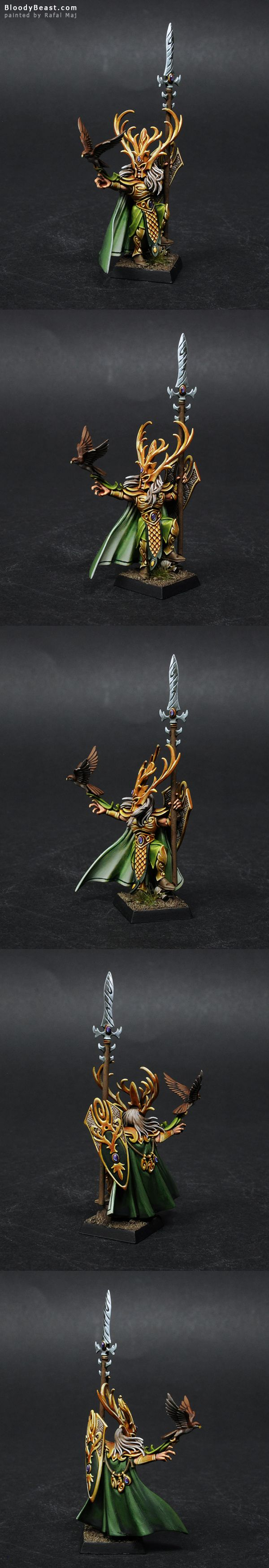 Wood Elves Araloth painted by Rafal Maj (BloodyBeast.com)