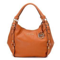Michael Kors Bedford Large Orange Shoulder Bags