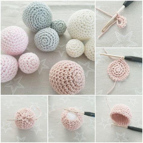 Kostenlose Anleitung zum Häkeln von Bällen oder Kugeln  #amigurumi #crochet #k…