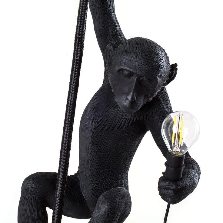 Seletti Monkey Lamp Ceiling-Black - Satın Al