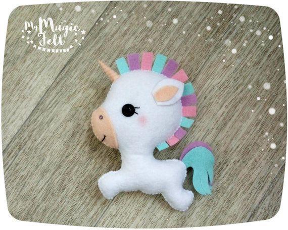Lindo unicornio sentía unicorn adorno Navidad Pascua decoración fieltro lindo juguete adornos navideños fieltro