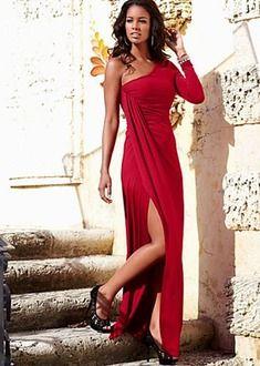 Black One shoulder long dress from VENUS