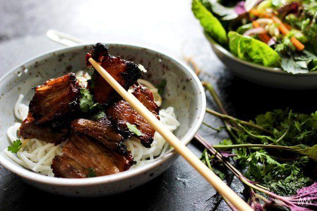 Bún chả - grilovaný vietnamský bůček , Foto: V kuchyni vždy otevřeno