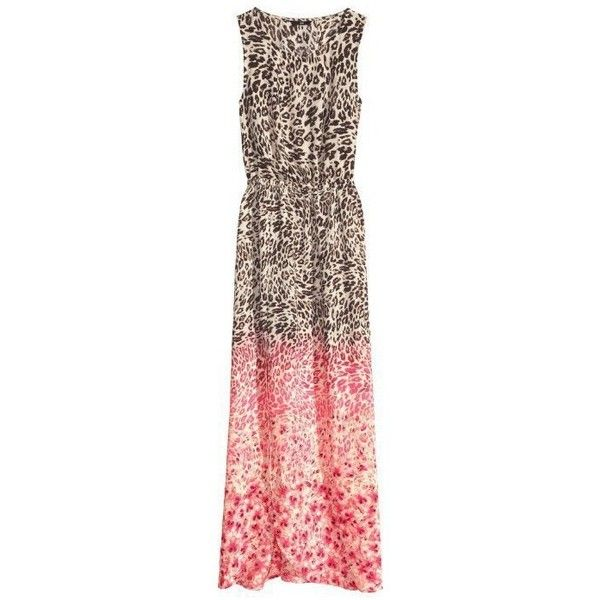 LUCLUC Leopard Printed Gradient Sleeveless Maxi Dress ($20) ❤ liked on Polyvore featuring dresses, brown dresses, no sleeve dress, gradient dress, leopard print maxi dress and sleeveless dress