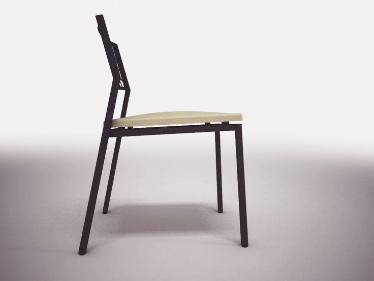 Chair, steel laser cut