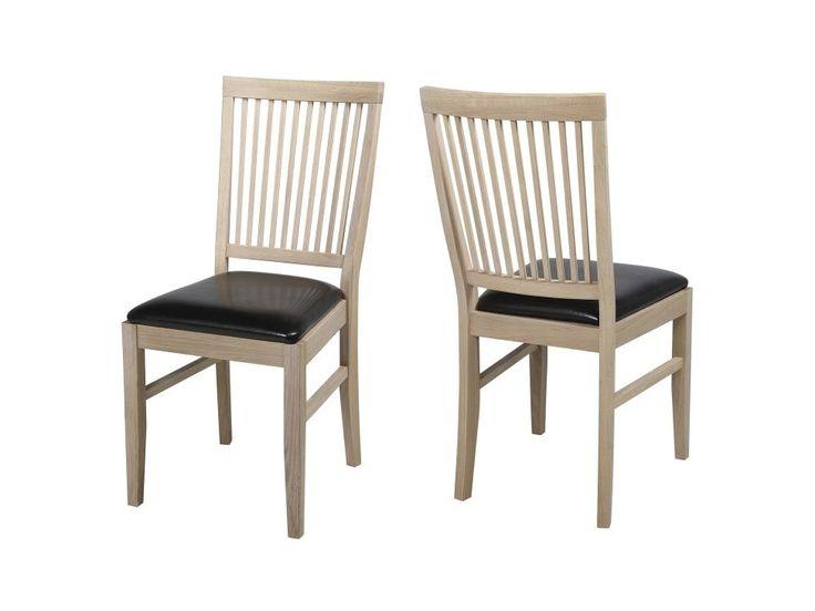 ~༺ Tradycyjne krzesło do jadalni Faggen bielone olejowane | Homelike 5098500000 | Sklep Internetowy Mebelio.pl