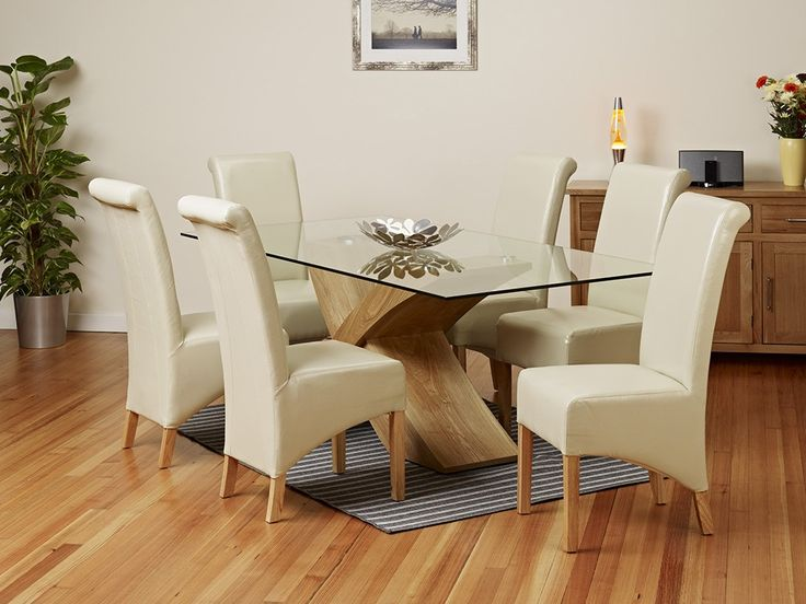 Provinical Home Dining Table   Oak And Glass