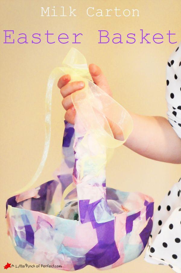 Milk Carton Easter Basket Kids Craft -