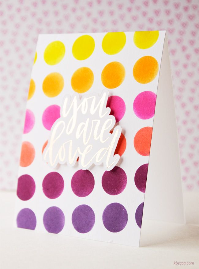 Cardmaking Video : Distress Ink Stenciled Background with Silhouette Adhesive Stencil Sheets